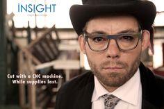 ExoVault aluminium glasses cut with a CNC machine Cnc Machine, Brand Names, Eyewear, Insight, Glasses, General Eyewear, Eyeglasses, Eye Glasses, Sunnies