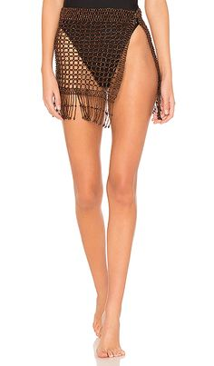 5f4a6515f5f77 Shop for 8 Other Reasons Nomad Beaded Skirt in Brown at REVOLVE.
