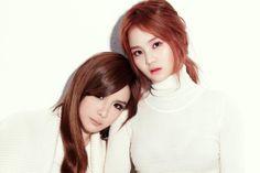 Bom and Lee Hi - Beauties in White   Beautiful Korean Artists