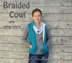 Braided Cowl easy sewing tutorial