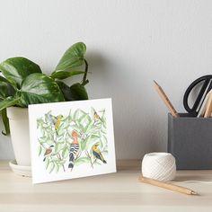 Buy Birds, Bird Art, Watercolor Paper, Art Boards, Throw Pillows, Floral Designs, Elegant, Artist, Handmade