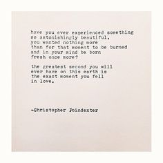 The Universe and Her, and I poem #232 written by Christopher Poindexter