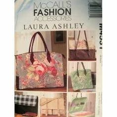 Free Us Ship Sewing Pattern McCall's 4531 Designer Laura Ashley Fashion Accessories Computer Business Bag Purse Satchel Unused 2004 by LanetzLivingPatterns on Etsy Laura Ashley Handbags, Laura Ashley Bags, Laura Ashley Patterns, Laura Ashley Fashion, Mccalls Sewing Patterns, Bag Patterns To Sew, Vintage Sewing Patterns, Sewing Ideas, Ashley Clothes