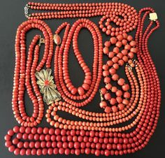 425.8 gram antique old coral bead coral natural coral necklace gold silver