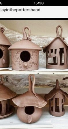 Hand Built Pottery, Slab Pottery, Thrown Pottery, Ceramic Pottery, Pottery Houses, Ceramic Houses, Crea Fimo, Pottery Lessons, Slab Ceramics