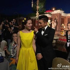 Nicky Wu and Cecilia Liu Shishi