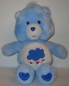 "Care Bears Grumpy Bear Plush 13"" Doll Blue Rain Cloud 2002 TCFC #TCFC #AllOccasion"