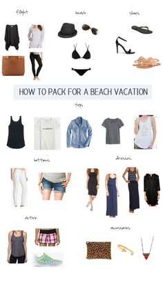 How to Pack for a Beach Vacation - Hawaii here I come!! Thank goodness there is a washing machine