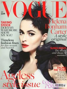 Helena Bonham Carter is flawless on Vogue's UK Cover