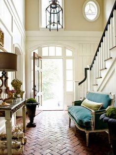 Timeless Brick Flooring Ideas - via Roses and Rust: Raw beauty - brick floors