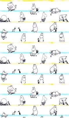 Shared by TAOZI. Find images and videos about wallpaper and moomin on We Heart It - the app to get lost in what you love. Phone Backgrounds, Wallpaper Backgrounds, Iphone Wallpaper, Moomin Wallpaper, Pattern Wallpaper, Moomin Tattoo, Moomin Shop, Moomin Valley, Tove Jansson
