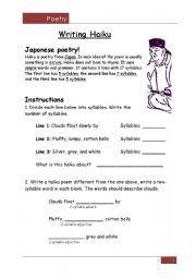 1000 images about haiku on pinterest poem poetry and worksheets. Black Bedroom Furniture Sets. Home Design Ideas