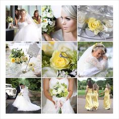 Beautiful lace & lemon wedding theme...at Mere Golf & Country Club, Cheshire.
