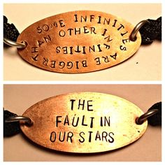 Some Infinites Are Bigger Then Other Infinites/ The Fault In Our Stars 2 Ajustable Copper Bracelets