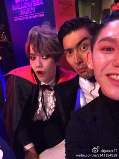 141105 jokers77 Weibo Update with Donghae and Siwon at SM Halloween Party 1/3