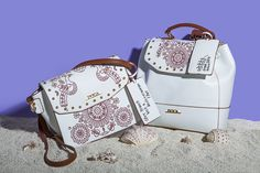 """GREEK SPIRIT Inspired by the sea`s deep blue and Greek island`s white, our new 'Greek Spirit' collection will virtually tour you to the Aegean and Ionian islands. The slogan of the line is """"My Greek Island Home"""" and """"Olive Branch with a Mediterranean Flair"""". Stunning handmade engraved details and prints on bags and wallets embellish our new collection.  www.doca.gr #greekspirit #greek #island #blue #fashion #patterns Island Blue, Fashion Patterns, Blue Fashion, Coco Chanel, Deep Blue, Slogan, Islands, Wallets, Two By Two"""