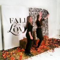 17 Fun, Interactive Photo Booth Backdrop Ideas. #eventplanning #photobooths For e-commerce company Vente-Privee USAs one-year anniversary party held last November in New York, StudioBooth set up a custom photo set with fall leaves and vintage props, designed to mimic the company's fall campaign. The images were turned into animated GIFs that were emailed to guests.