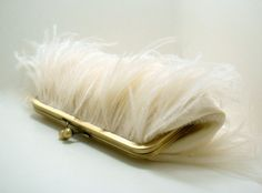 Party // ostrich feathers #bridal #ivory