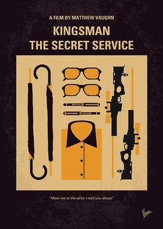 Kingsman: The Secret Service ~ Minimal Movie Poster by Chungkong Movie Posters For Sale, Minimal Movie Posters, Minimal Poster, Movie Poster Art, Poster Poster, Kingsman Film, Kingsmen The Secret Service, Colin Firth, Birdman