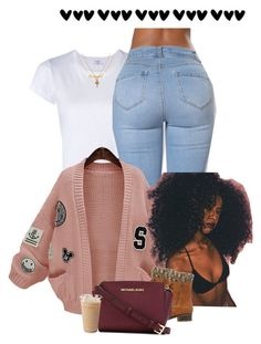 """""""Don't waste my time"""" by muvaaliyah ❤ liked on Polyvore featuring RE/DONE, WithChic, Charlotte Russe, MICHAEL Michael Kors and Mirabelle"""