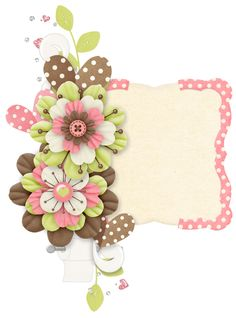 Rosimeri Andrade PottyAnimalGirlClusters ~ Spring Flowers Clipart Frame.