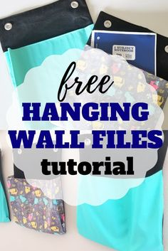 Learn to sew your own diy hanging wall files with this free tutorial. Wall Pocket Organizer, Wall File Organizer, Hanging Wall Organizer, File Folder Organization, Diy Hanging, Bill Organization, Sewing Patterns For Kids, Easy Sewing Projects, Sewing Projects For Beginners