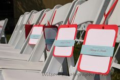 Ceremony Programs that doubled as Fans & Sun Visors for our outside Wedding! DIY <3 http://boards.weddingbee.com/topic/hanging-ceremony-programs-diy#axzz2oe2YMRwh