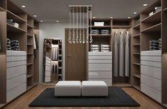 Recamara y Vestidor Moderno: Vestidores y closets de estilo Moderno por Diseñadora de Interiores Citlali Villarreal