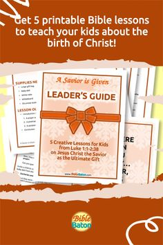 Present Jesus the Savior to Kids as the Ultimate Gift! Then challenge them to accept that gift this holiday season. A Savior is Given: Leader's Guide contains five creative, detailed lesson plans to make teaching your kids about the birth of Christ easy and fun–and meaningful. Use these printable Bible lessons in your children's ministry, Sunday School class, or church pageant this Christmas! Click through for details. The Birth Of Christ, The Ultimate Gift, Bible Lessons, Sunday School, Savior, Pageant, Ministry, Lesson Plans, Holiday