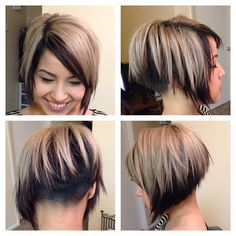 Asymmetrical undercut bob - Google Search
