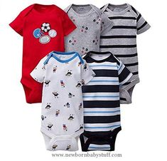 Baby Boy Clothes Gerber Onesies Newborn Baby Boys Sports Outfits 5 Pack