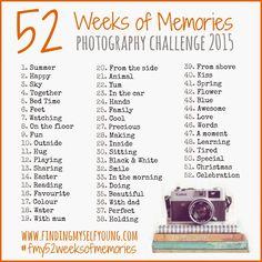 52 Weeks Of Memories Photography Challenge 2015