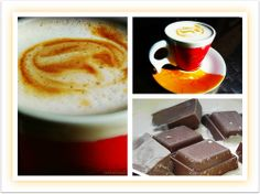 saboreando café e chocolate  O café é tão grave, tão exclusivista, tão definitivo que não admite acompanhamento sólido. Mas eu o driblo, saboreando, junto com ele, o cheiro das torradas-na-manteiga que alguém pediu na mesa próxima. - Mario Quintana -
