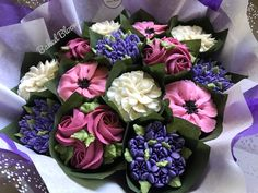Succulent Cupcakes, Floral Cupcakes, Wedding Cakes With Cupcakes, Cupcake Cakes, Cupcake Ideas, Edible Bouquets, Cupcake Bouquets, Brown Sugar Bakery, Custom Cupcakes