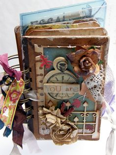 "LOVE this mini album! Gosia S. ""Po prostu karteczki"": Mini album i karteczka Scrapbooking Album, Scrapbook Journal, Mini Scrapbook Albums, Scrapbook Photos, Altered Books, Altered Art, Mini Albums, Handmade Books, Handmade Journals"