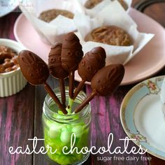 easter sugar free chocolate ¾ cup coconut oil ½ cup raw cacao powder ½ cup nut butter (we've also used coconut butter before) 2 tsp. 100% vanilla extract Pinch of salt