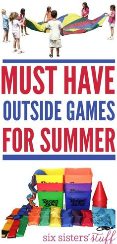 """Must have outside games for summer! This is a  great resource for those days when you hear, """"I'm bored!"""""""
