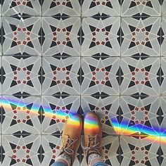 This week's #regram is for this cool 🌈 picture by @monicaetzel! Thanks for sharing your #TileAddiction!