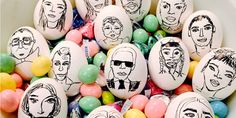 Easter just got chic. @thecartorialist, Carly Kuhn, created egg versions of the biggest fashion people, from Karl Largerfeld to North West. See the designer dozen.
