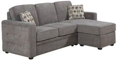 Amazon.com: AC Pacific Lucas 2-Piece Sectional, Includes Left Arm Facing Loveseat and Chaise, Charcoal: Furniture & Decor