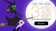 31% off of goulish Halloween Favs  TODAY!  Take a look in my Avon estore at: http://www.youravon.com/srudek  Have fun browsing! Have a safe and fun Halloween!!!!!