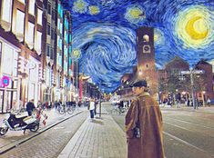 Van Gogh with Taehyung 🌻🐯 Van Gogh Wallpaper, Bts Wallpaper, Taehyung Fanart, V Taehyung, Jhope, Bts Fans, Kpop Fanart, Vincent Van Gogh, Vkook
