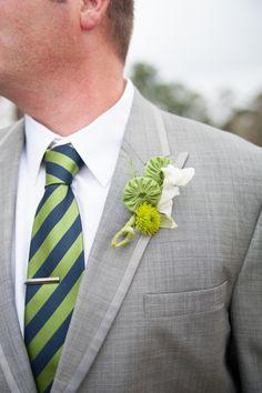Navy and Green South Carolina Wedding via Britt Croft Photography
