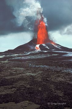 Pu'u O'o eruption, Kilauea Volcano, Hawaii Volcanoes National Park. in Photography