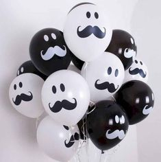 Black & White Latex Balloons Smile Mustache Assorted Birthday Baby shower wedding Party Decorations Supplies by rimrimflower on Etsy Baby Girl Shower Themes, Baby Shower Decorations For Boys, Birthday Party Decorations, Baby Boy Shower, Birthday Parties, Wedding Parties, Lego Parties, Mustache Birthday, Mustache Party