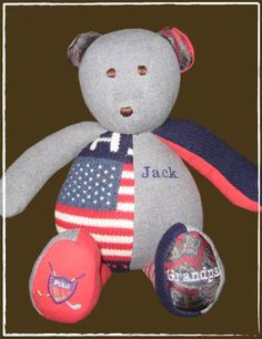 Memory Bear: made from a loved ones clothes who has passed away. Something to snuggle while bringing back happy memories.