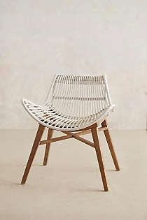 Anthropologie - Scrolled Rattan Chair