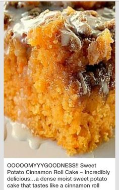 Sweet Potato Cinnamon Roll Cake! #tipit