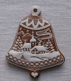 Today we are looking at Moravian and Bohemian gingerbread designs from the Czech Republic. Back home, gingerbread is eaten year round and beautifully decorated cookies are given on all occasions. Fancy Cookies, Royal Icing Cookies, Holiday Cookies, Cupcake Cookies, Christmas Gingerbread House, Gingerbread Cookies, Gingerbread Houses, Christmas Goodies, Christmas Baking
