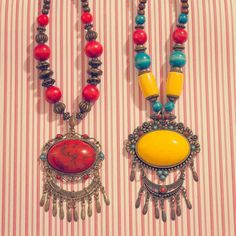 wAXAw - Necklaces, Morocco Red 25€ Yellow 28€